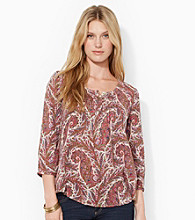 Lauren Jeans Co.® Pintucked Paisley Shirt