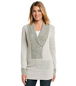 Olivia Sky Boucle Tunic With Zipper