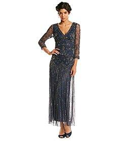 Pissaro Nights Beaded Long Dress