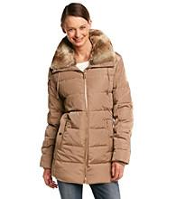 MICHAEL Michael Kors® Short Down With Faux Fur Wing Collar Coat