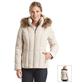 Calvin Klein Petites' Faux Fur Trimmed Down Jacket