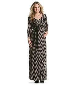 Three Seasons Maternity Women's Chevron Print Maxi Dress