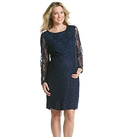 Three Seasons Maternity™ Women's Solid Lace Dress