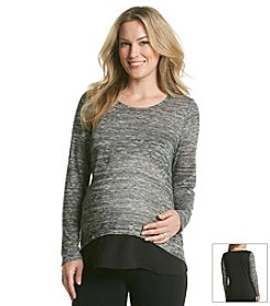 Three Seasons Maternity® Women's Hatchi Top with Chiffon Bottom