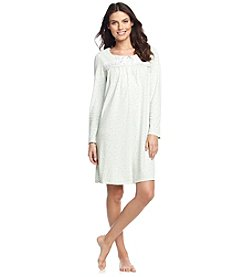 Aria® Long Sleeve Short Gown - Seafoam Green