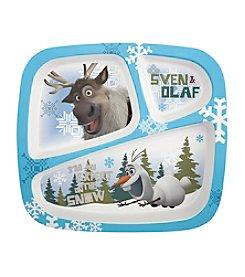 Zak Designs® Disney™ Frozen Sven & Olaf 3-Section Plate