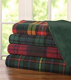 Premier Comfort Yarn Dye Berber Plaid Throw