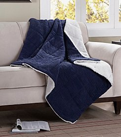 Premier Comfort Jackson Wide Corduroy Reversible Berber Throw