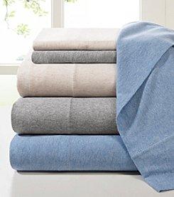 Heathered Cotton Jersey Knit Sheet Set