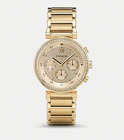 COACH 1941 SPORT GOLD PLATED CRYSTAL BRACELET WATCH