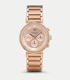 COACH 1941 SPORT ROSE GOLD PLATED CRYSTAL BRACELET WATCH