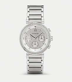 COACH 1941 SPORT STAINLESS STEEL CRYSTAL BRACELET WATCH