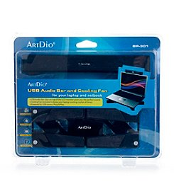 Kinyo USB Audio Bar and Cooling Fan For Laptop or Netbook