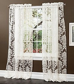 Lush Decor Brea Sheer Window Curtains