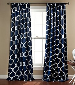 Half Moon Geo Blackout Set of 2 Window Curtains