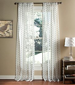Lush Decor Polka Dot Sheer Window Curtains