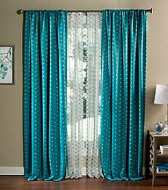 Lush Decor Polka Dot Blackout Window Curtains