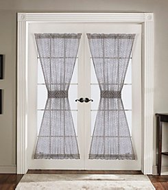 Lush Decor Antique Grey Sheer Door Curtains
