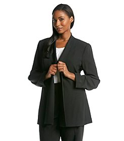 Calvin Klein Suits Plus Size Open Front Jacket