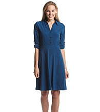 Notations® Solid Point Collar Dress