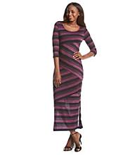Notations® Knit Striped Maxi Dress