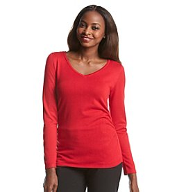 Notations® Solid Side Ruched Sweater