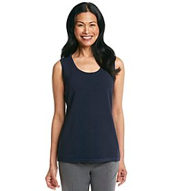Laura Ashley® Sleeveless Scoopneck Shell Tank Top