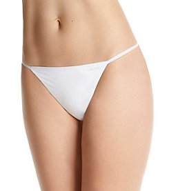 Calvin Klein Sleek String Thong - White