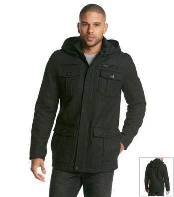 GUESS Wool Four Flap Pocket Men's Coat
