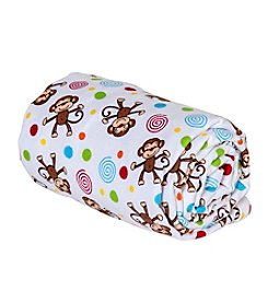 Trend Lab Monkey Print Swaddle Blanket