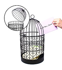 Cathy's Concepts Scrolling Heart Birdcage Card Holder