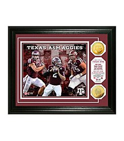 Texas A&M 1st Round Draft Picks Gold Coin Photo Mint by Highland Mint