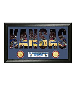 NCAA® University of Kansas Basketball Word Art Bronze Minted Coin Panoramic Photo