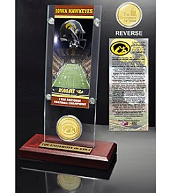 NCAA® University of Iowa National Champs Ticket and Bronze Coin Desktop Acrylic