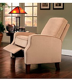 Abbyson Living® Carmen Beige Microsuede Pushback Recliner