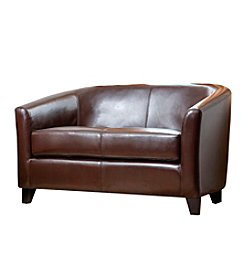 Abbyson Living® Frankfurt Leather Loveseat
