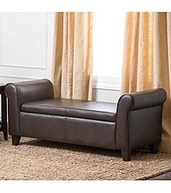 Abbyson Living® Easton Bonded Leather Storage Ottoman Bench