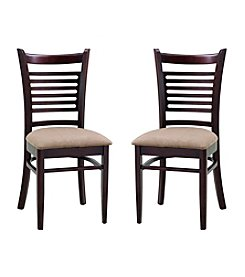 Abbyson Living® Set of 2 Bahama Fabric Dining Chairs
