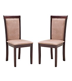 Abbyson Living® Set of 2 Montego Fabric Dining Chairs