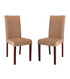 Abbyson Living® Set of 2 Leonis Fabric Dining Chairs