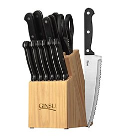 Ginsu® Essential Series 14-pc. Cutlery Set with Natural Block