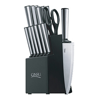 Ginsu® Koden Series 14-pc. Stainless Cutlery Set with Bl