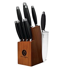 Ginsu® Chikara Comfort Grip Series 10-pc. Black Cutlery Set