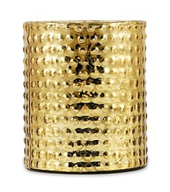 The Pomeroy Collection Gold Glayser Pillar Candle Holder