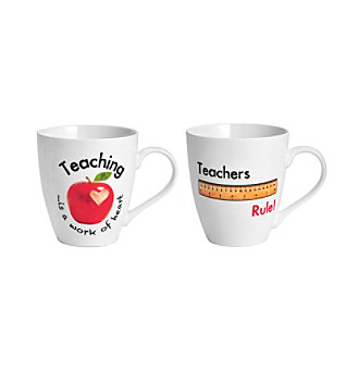 Pfaltzgraff® 'Teachers Rule' 2-Pack Mug Set