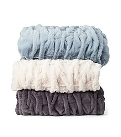 Jessica Simpson Sculpted Faux Fur Throw