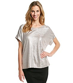 Adiva Metallic Foil Shirt