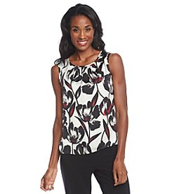 Nine West® Floral Sleeveless Blouse