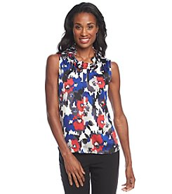 Nine West® Printed Ruffle Front Cami