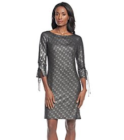 Nine West® Boatneck A-Line Dress
